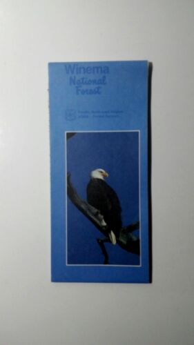 Winema National Forest USFS Map Oregon 1986 Vintage