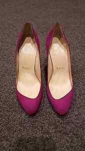 Christian Louboutin Maudissima 100mm 35.5 Pink Suede Melbourne CBD Melbourne City Preview