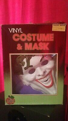 Vintage BEN COOPER Costume THE JOKER 1988-1989. Slightly damaged mask. Rare!