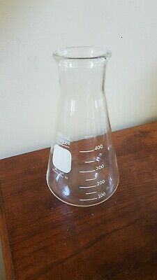 Erlenmeyer Flask Glass 500ml Pyrex No. 5100 Stopper No. 10 New