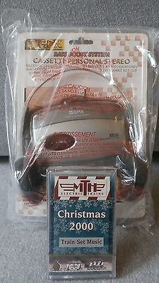 """MTH Cassette Tape """"Christmas 2000"""" Train Set Music With GPX Personal Stereo"""
