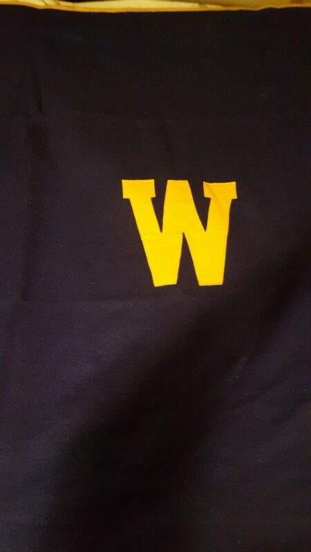 Vintage Stadium Wool Blanket Made By Butwin from Wooster High school in Ohio.