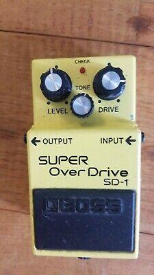 Boss SD-1 Super Overdrive Pedal VGC