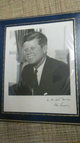 Vintage 1963 President John F. Kennedy Photo Signed