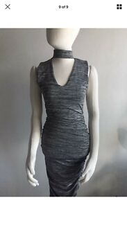 Wanted: PIPERLANE (brand new with tag) grey pencil stretch bandeau dress AU 8