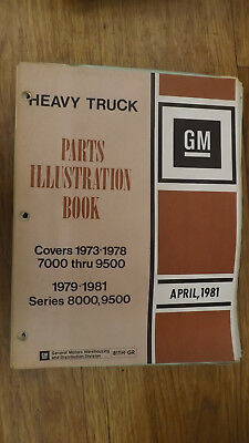 1973-1981 Series 7000-9500 Chevrolet Truck Illustrated Parts Catalog Manual 1981 Chevy Truck Parts