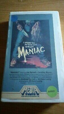 Maniac Vintage Horror VHS Media Home Entertainment William Lustig -