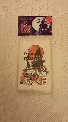 vtg 40 paper halloween favor / treat bags 1993 spearhead industries unused