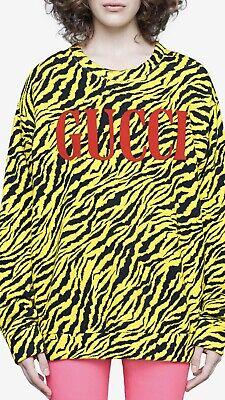 100% Authentic GUCCI Oversized Zebra Print Sweatshirt $1280+Tax Size: XS