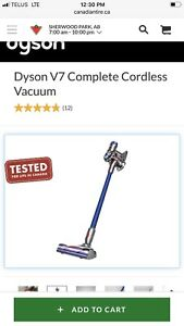 Dyson v7 complete in box