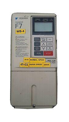 Yaskawa Varispeed F7 Cimr-f7u42p2 Spec42p21f 480 V 3 Hp Drive 5.3 Amp
