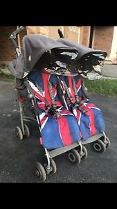 Maclaren TECHNO Double Stroller with LOADS of Accessories