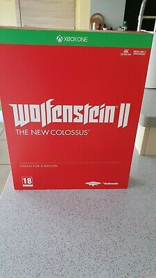 WOLFENSTEIN 2 II : THE NEW COLOSSUS EDITION COLLECTOR xbox one (NEUF, NEW)