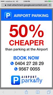 SYDNEY AIRPORT CAR PARKING @ 2 SARAH ST MASCOT SAVE 50%