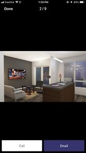 1 bedroom plus large den at the boss plaza  February 1