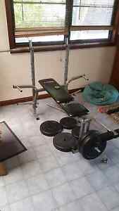 bench press and leg extension  workout machine Ramsgate Rockdale Area Preview