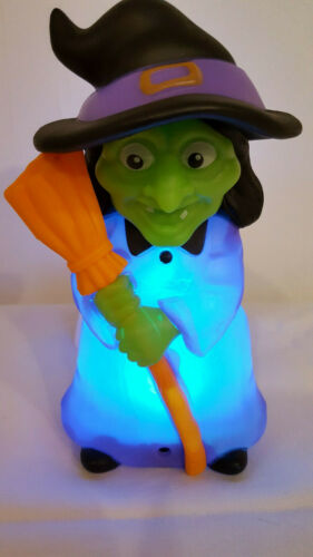 Halloween USB LED Witch with Lights and Sounds