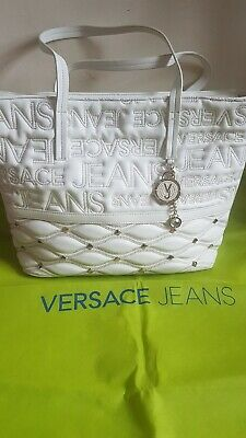 Versace Jeans Tote Bag - Soft White Leather inc Dust Jacket & original receipt