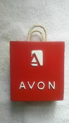 Red Replica Shopping Bag Business Card Holder 2006 Avon Home Business Pre-owned