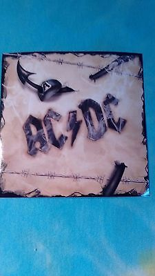 AC/DC Barbwire 4 x 4 Inches Sticker