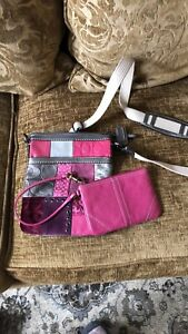 Coach cross body and change clutch