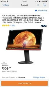 Selling aoc 144hz monitor.