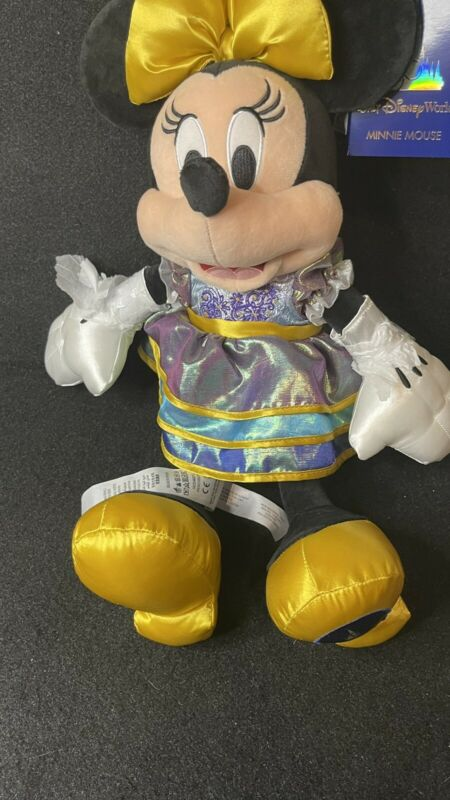 Disney 50th Anniversary Minnie Mouse Plush New In Hand