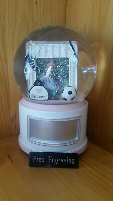 FREE ENGRAVING (PERSONALIZED) Soccer Water (Snow) Globe We Are The Champions](Personalized Snow Globes)