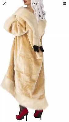 Halloween Cruella Costume (CRUELLA DEVILLE Halloween Costume COAT Cigarette Holder 101 Dalmatians NIP)