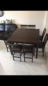 Pub dining set with 8 chairs