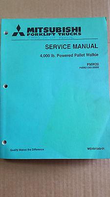 Mitsubishi Electric Pallet Truck Service Manual Pmw20 Powered Walkie