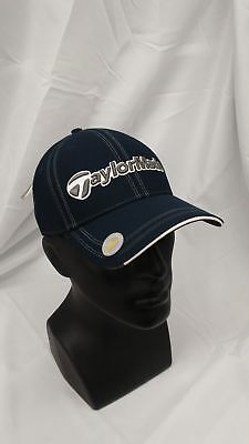 a0bb5fbbe03 New Taylormade Golf Flush 2.0 Fitted Hat S M Navy Contrast Stitch Design