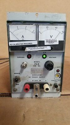 Kikusui Pad55-3l Regulated Dc Power Supply 0-55v 0-3a Good
