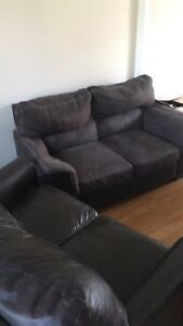 sofa set pullout couch leather suede sofa