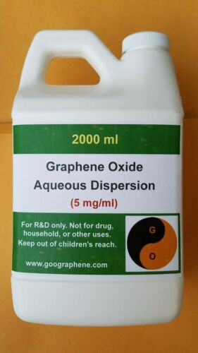 pH~6-7, 2000ML × 5mg/ml, Single-Layer Graphene Oxide Aqueous Dispersion
