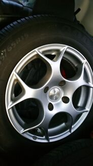 4XTSW alloy wheels & tyres 4 x 108 stud 7JX 15 35mm offset  Kingsgrove Canterbury Area Preview