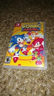 Sonic Mania Nintendo Switch Custom Case With Sleeve Art