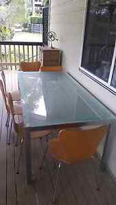 Glass top dining room table and chairs Mount Gravatt East Brisbane South East Preview
