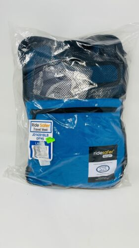Safe Traffic System, Inc. Ride Safer Travel Vest Gen 5, Large, Blue. NEW. SHIPFR