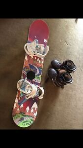 Burton Snowboard with boots, bindings and helmet