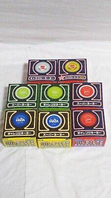 New!Coca Cola Fanta Sprite 80`s yo-yo`s Reprint edition 8Complete!
