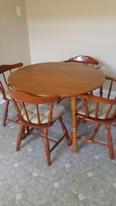 Solid maple Vilas table and chairs