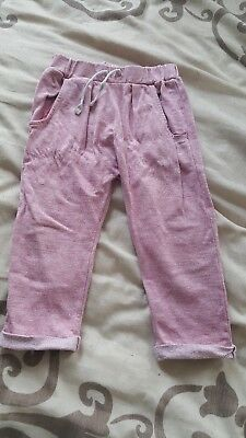 girls pink jogging bottoms tracksuit bottom 1.5-2 years
