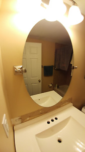 FOR SALE - Oval Bathroom Mirror