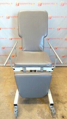 Biodex Ultrasound Procedure Table Chair 056-605 Mobile Hydraulic Trendelenburg