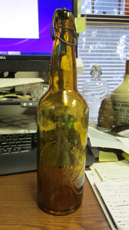 Saginaw, Mich. Saginaw Brewing Co. Quart Blob Top Beer Bottle BIMAL MICHIGAN MI