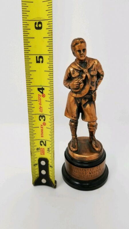 Vintage 1952 Boy Scouts Of America Copper Trophy