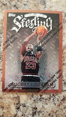 RARE MICHAEL JORDAN 1996 TOPPS FINEST STERLING WITH COATING #50 BULLS!!!