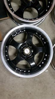 "Genuine set SSR Kranz 15"" 4x100 rare black jdm wheels rims"
