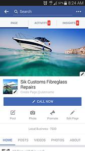 Sik customs fibreglass repairs Gagebrook Brighton Area Preview